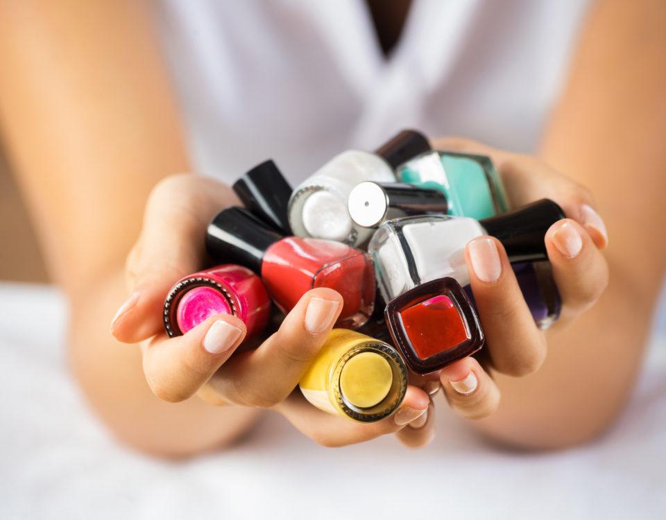 Esmaltes para manicura de uñas