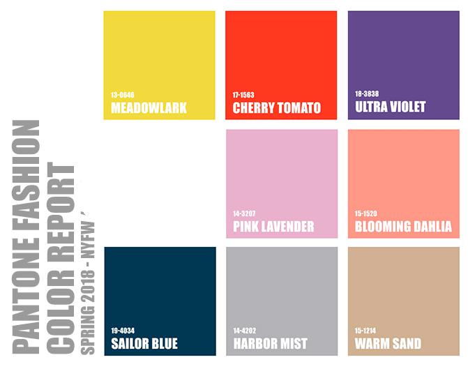 colores de uñas de moda de Pantone para primavera