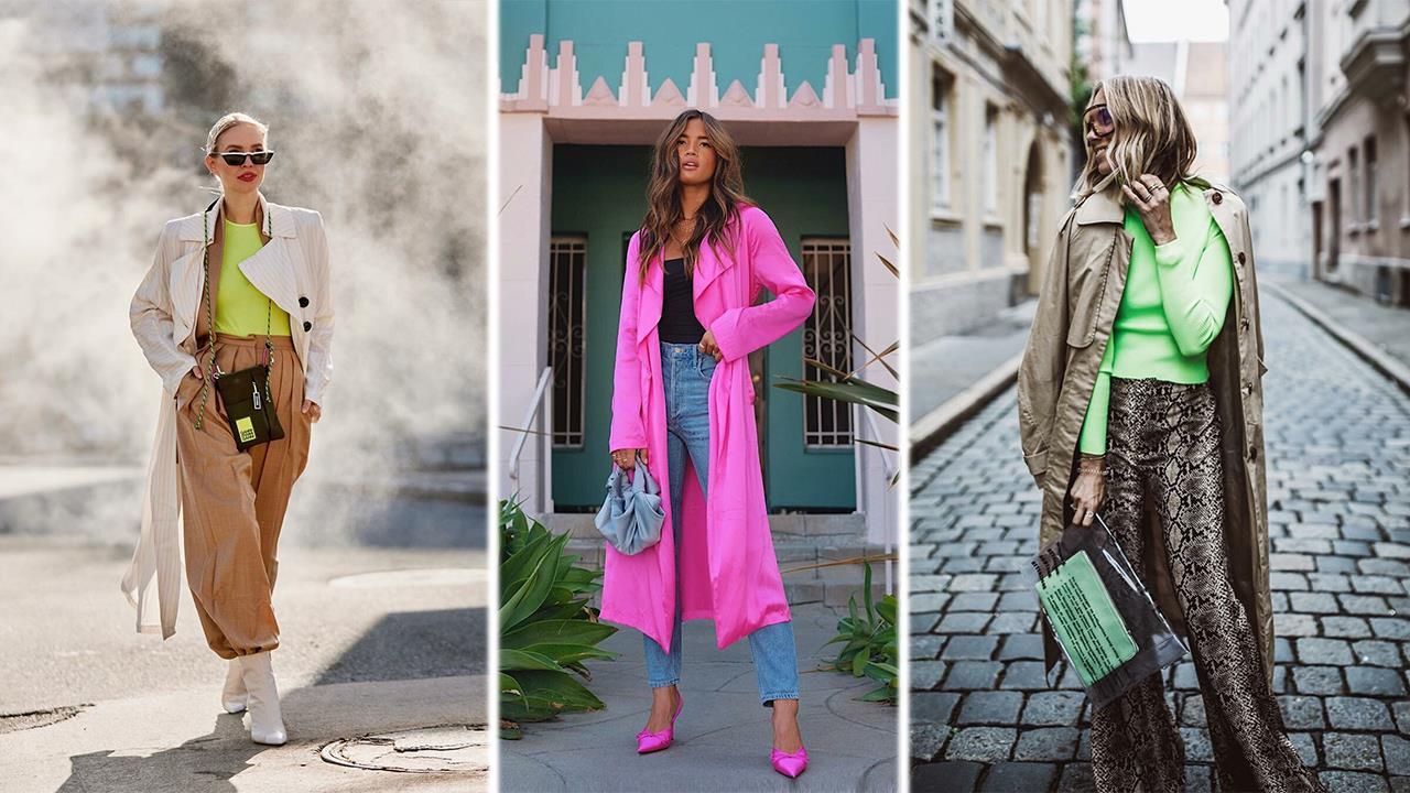 colores neón en moda y accesorios